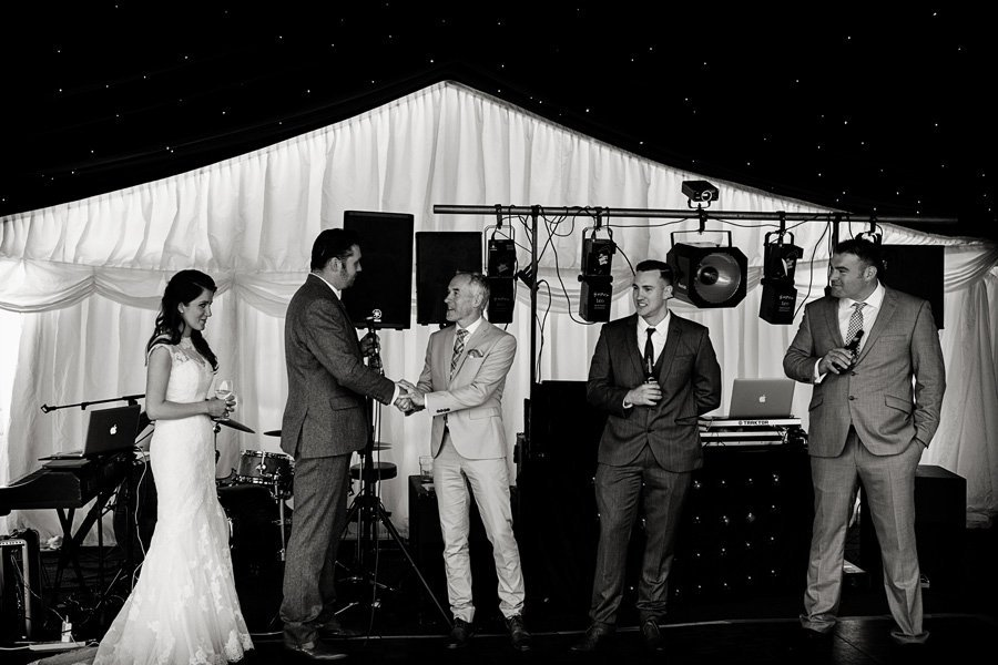 wedding in marquee in Nottingham
