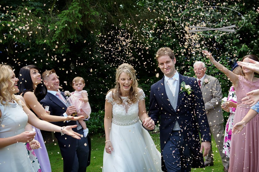 Old Vicarage Boutique Wedding Photographer - confetti shot