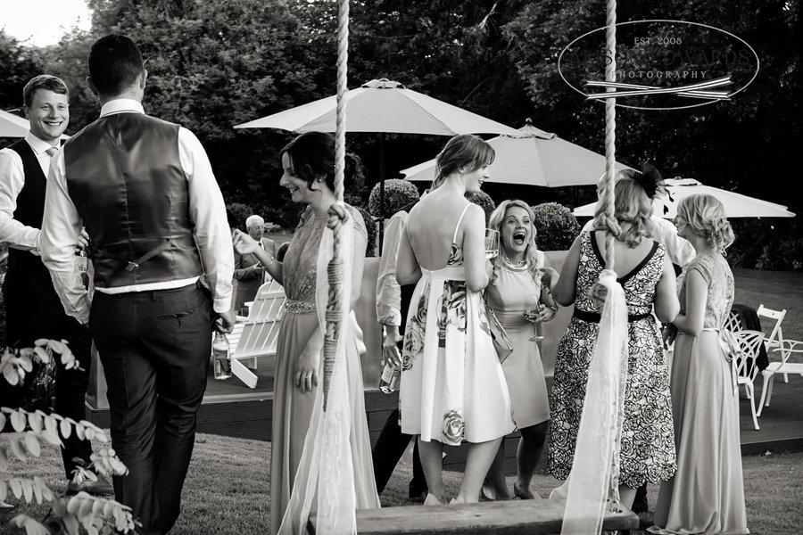 Old Vicarage Boutique Wedding wedding reception guests