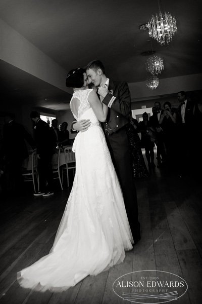 bride and groom's first dance at wedding