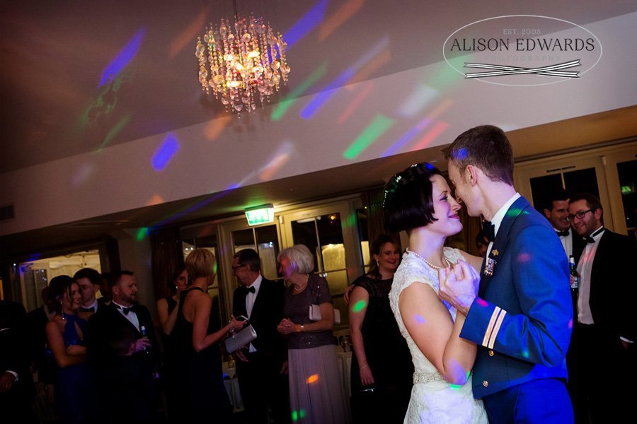 bride and groom's first dance at wedding at Kelham House Newark