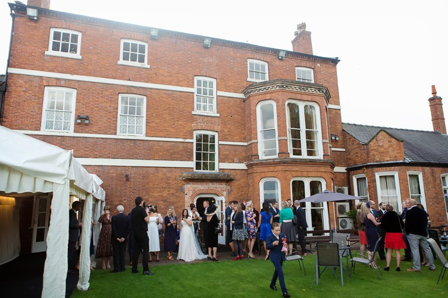 guests at Newark Town & District Club wedding venue