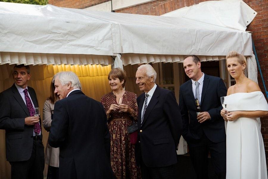 wedding guests at Newark Town & District Club Newark
