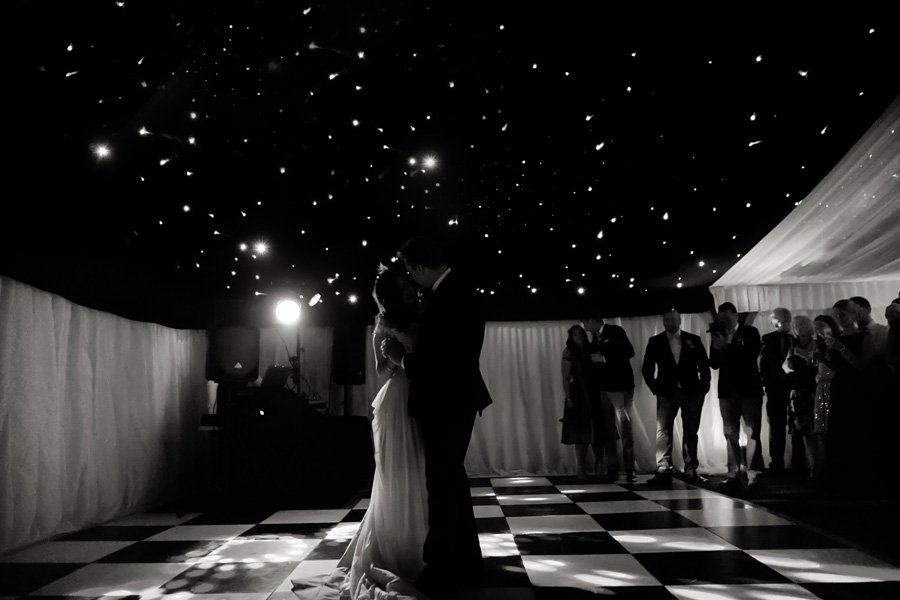 bride and groom's first dance at Newark Town & District Club