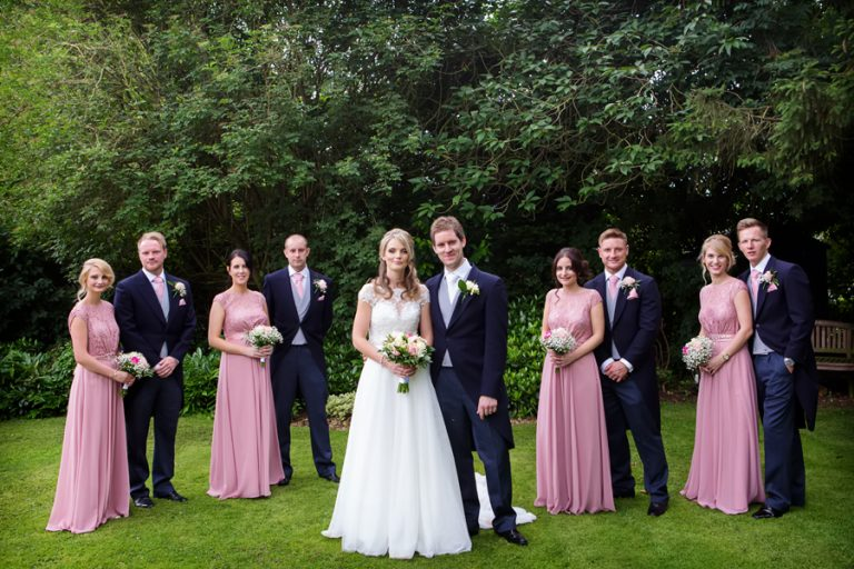 bridal party wedding photo at Old Vicarage Boutique Hotel
