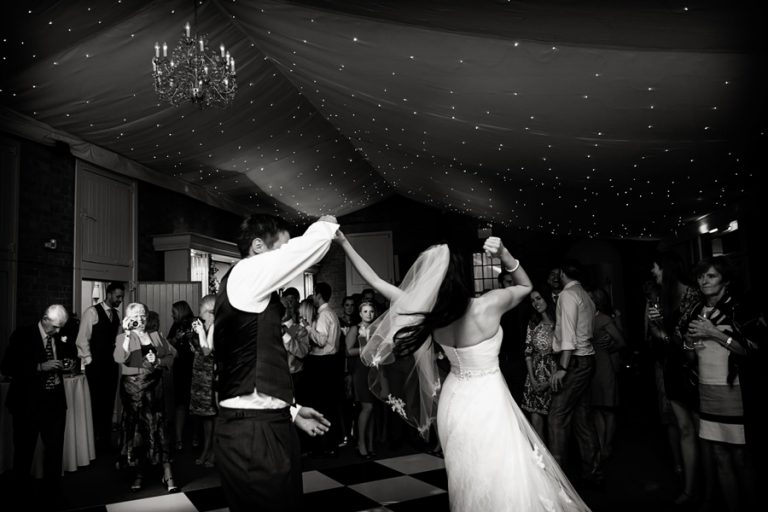 bride and groom's first dance at Norwood Park