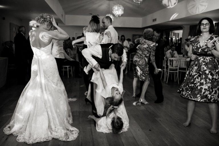guest dancing at kelham house wedding