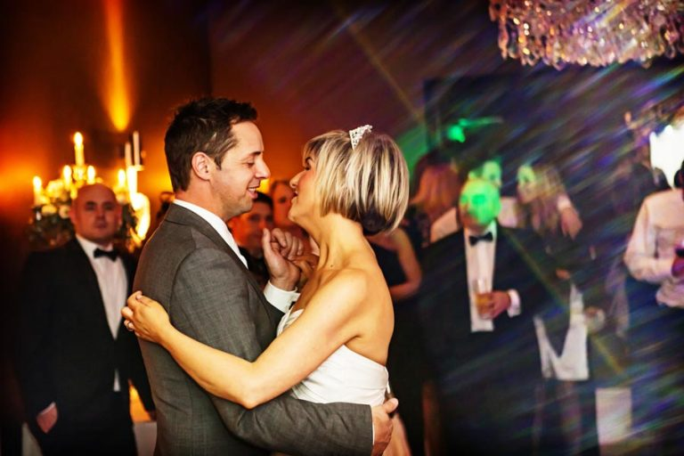 bride and groom dancing at The Old Vicarage Southwell
