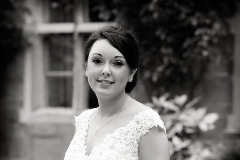 class portrait of bride at Allington Manor