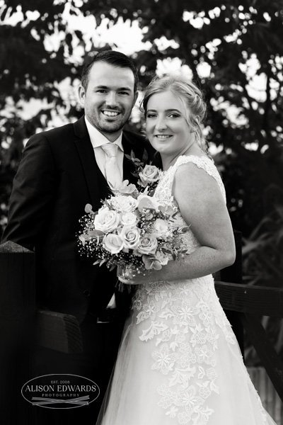 bride and groom classic portrait