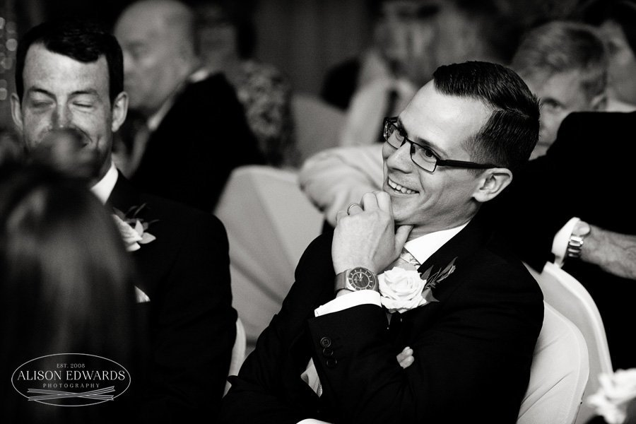 bestman smiling during speeches