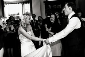 bride and groom dancing at Prestwold Hall Nottingham