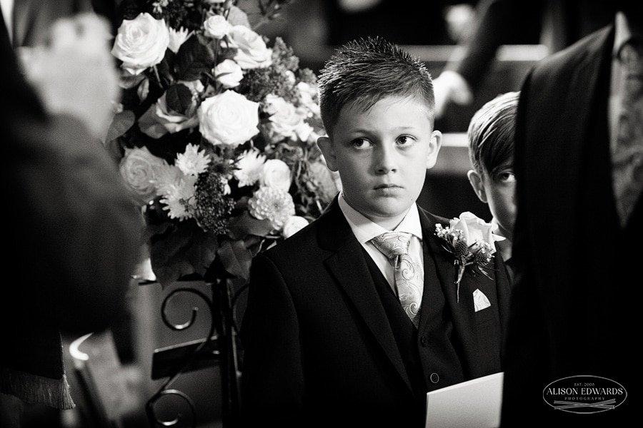 young boy in church
