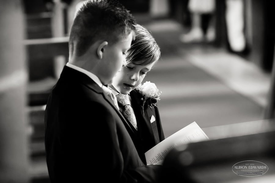 two boys singing in church at weston on trent