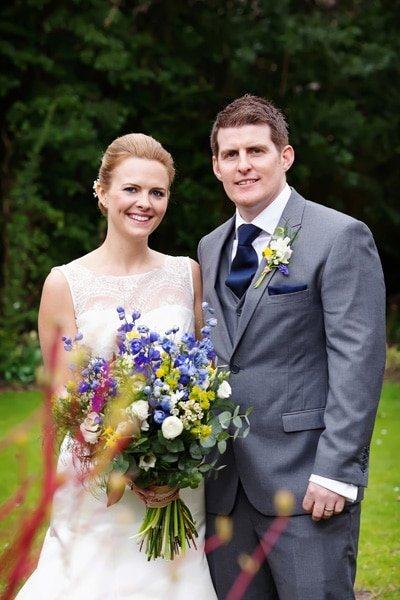 bride and groom at old vicarage in march