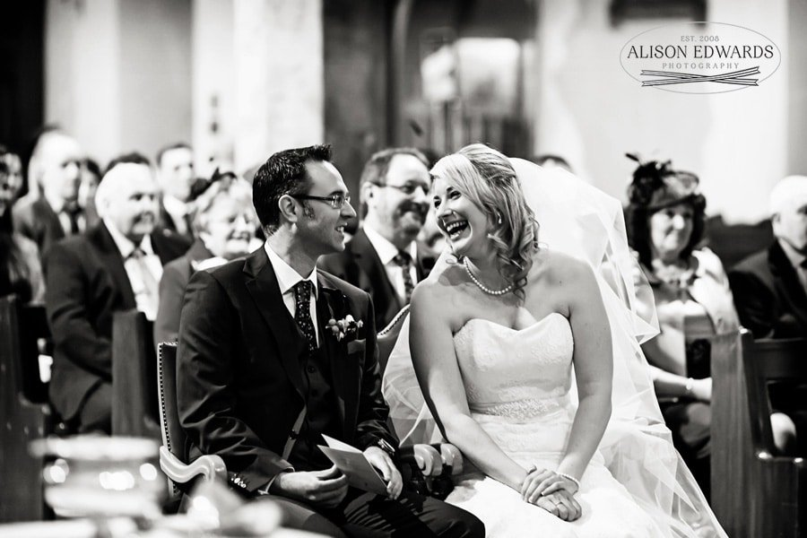 happy bride and groom at St Barnabas Cathedral Nottingham